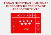 Logotipo de vehículos con Tarjeta de transporte VTC oficial
